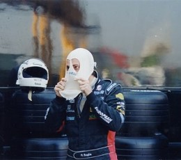 Gallazzi Andrea prova la Minardi F1x2 a Imola (2002)