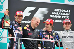 Gp Malesia: Vettel, Webber, Rosberg - Photo by Clive Mason/Getty Images