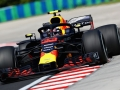 BUDAPEST, HUNGARY - JULY 27: Max Verstappen of the Netherlands driving the (33) Aston Martin Red Bull Racing RB14 TAG Heuer on track during practice for the Formula One Grand Prix of Hungary at Hungaroring on July 27, 2018 in Budapest, Hungary.  (Photo by Mark Thompson/Getty Images)