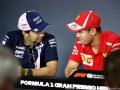 Sebastian Vettel Scuderia Ferrari, Sergio Perez Racing Point Force India