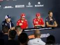 Kimi Raikkonen Scuderia Ferrari; Sebastian Vettel Scuderia Ferrari; Romain Grosjean Team Haas; Sergio Perez Racing Point Force India