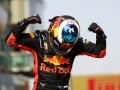 SHANGHAI, CHINA - APRIL 15:  Race winner Daniel Ricciardo of Australia and Red Bull Racing celebrates in parc ferme during the Formula One Grand Prix of China at Shanghai International Circuit on April 15, 2018 in Shanghai, China.  (Photo by Lintao Zhang/Getty Images)