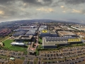 Vista aerea (foto da elicottero) dell'area dove sorge la fabbrica Ferrari