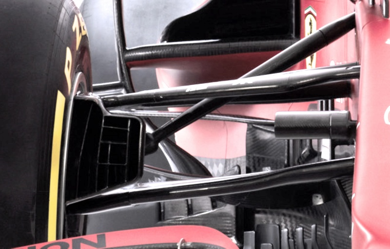 front suspension and brake duct sf21