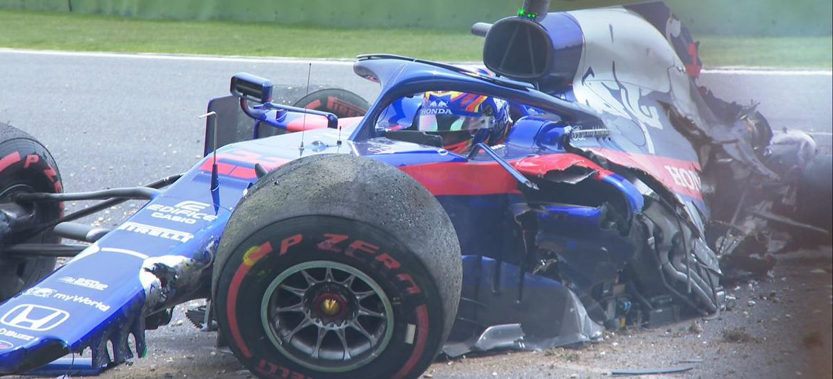 Gp Cina F1, brutto incidente per Albon (Toro Rosso). Salterà le qualifiche [ VIDEO ]