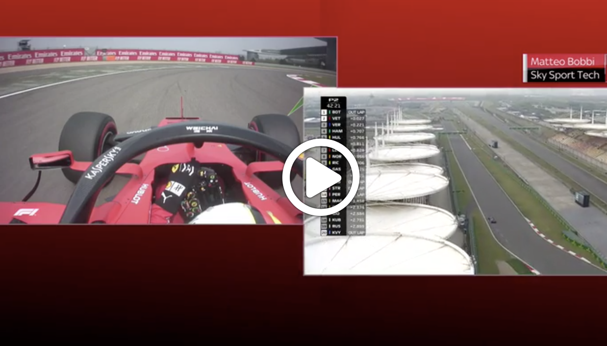GP Cina F1 | Vettel e Hamilton a confronto in curva 1 [ VIDEO ]