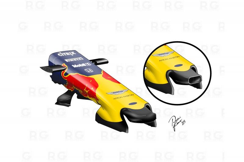 F1, Analisi Tecnica Red Bull: Tutte le novità sulla RB15 a Monaco