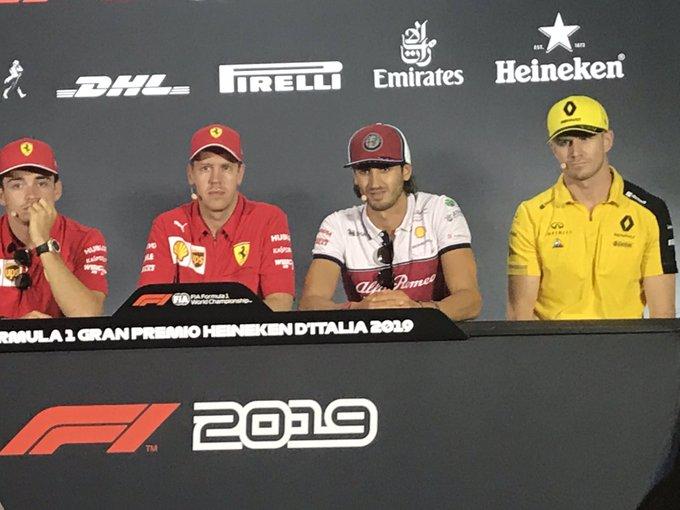 Formula 1, GP Italia a Monza: il giro in elicottero di Giovinazzi e Raikkonen con Vanzini