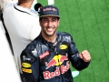 BUDAPEST, HUNGARY - JULY 24: Daniel Ricciardo of Australia and Red Bull Racing celebrates his third position on the podium during the Formula One Grand Prix of Hungary at Hungaroring on July 24, 2016 in Budapest, Hungary.  (Photo by Charles Coates/Getty Images)