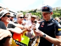 MONTE-CARLO, MONACO - MAY 27:  Max Verstappen of Netherlands and Red Bull Racing signs autographs for fans during previews to the Monaco Formula One Grand Prix at Circuit de Monaco on May 27, 2016 in Monte-Carlo, Monaco.  (Photo by Mark Thompson/Getty Images)