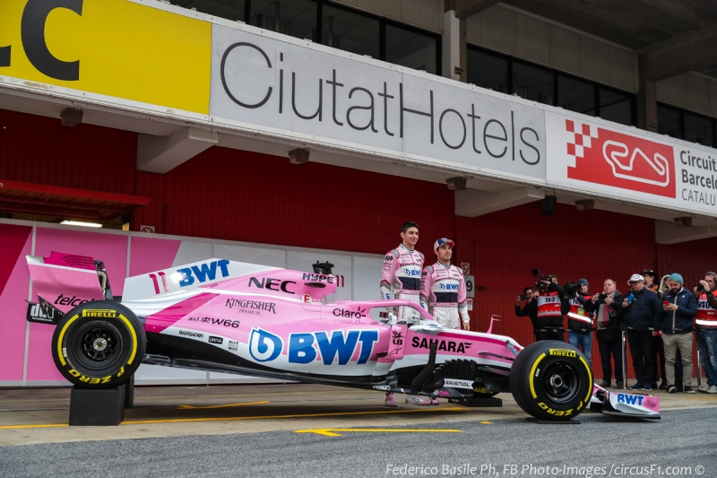 Presentazione Force India Esteban Ocon-Sergio Perez