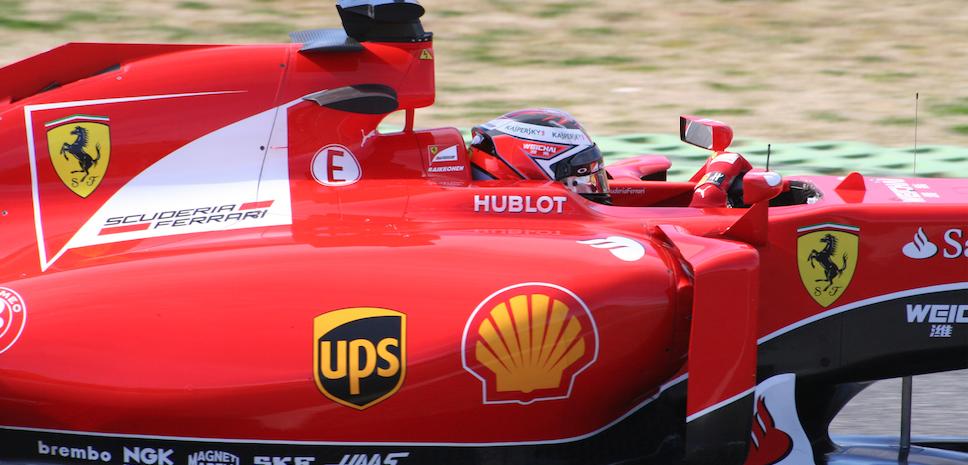 Raikkonen Test F1 Spagna