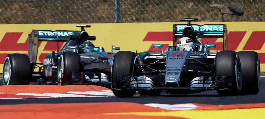 Hamilton Rosberg Hungaroring F1 2015