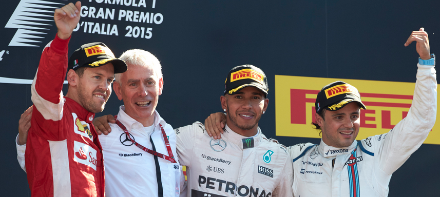 Monza F1 2015 podium