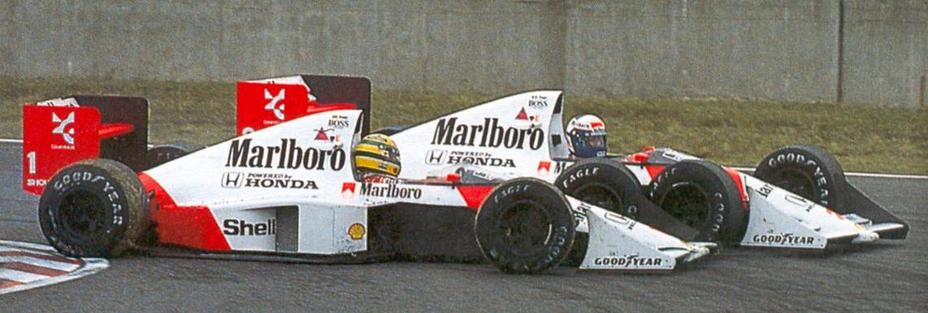 Senna Prost Suzuka F1 Japan