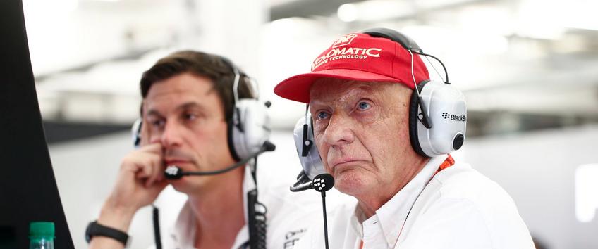 Niki Lauda Mercedes F1