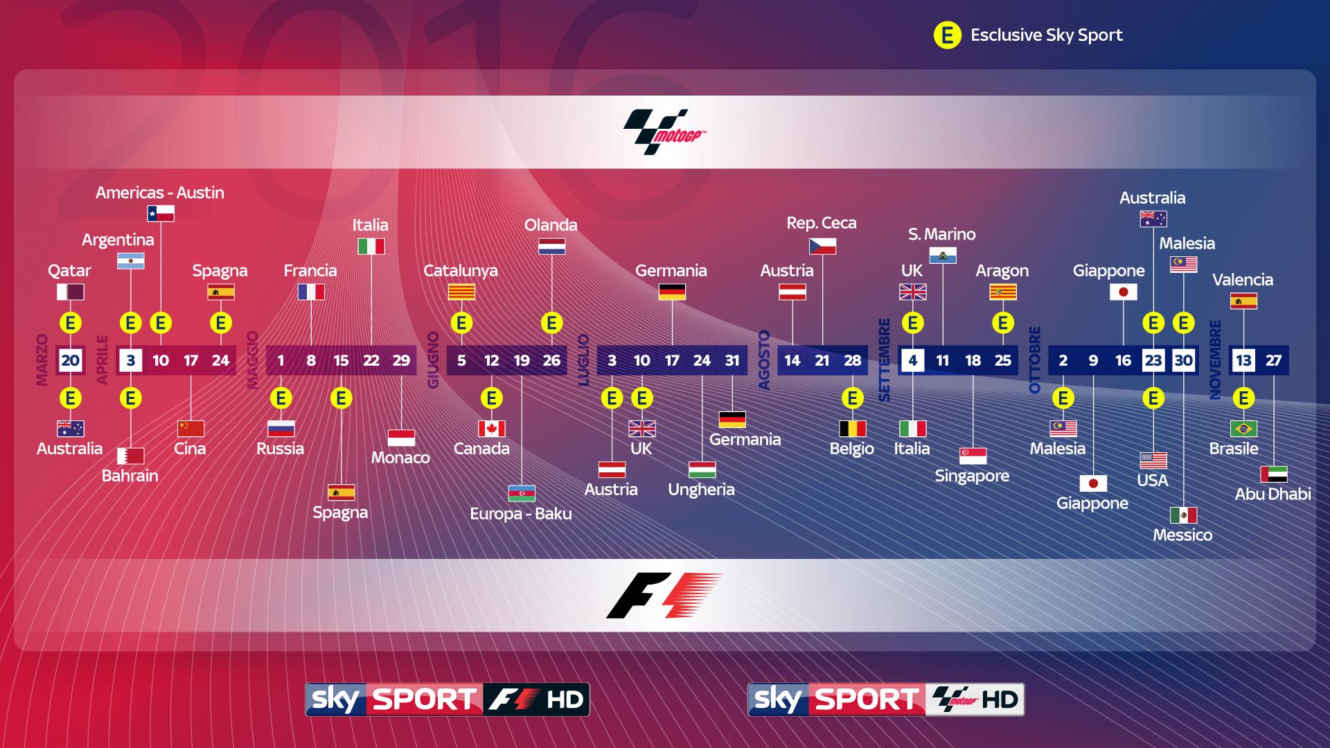 Calendario Formula1.Sky Sport F1 Hd Si Prepara Al Mondiale Di Formula 1 2016