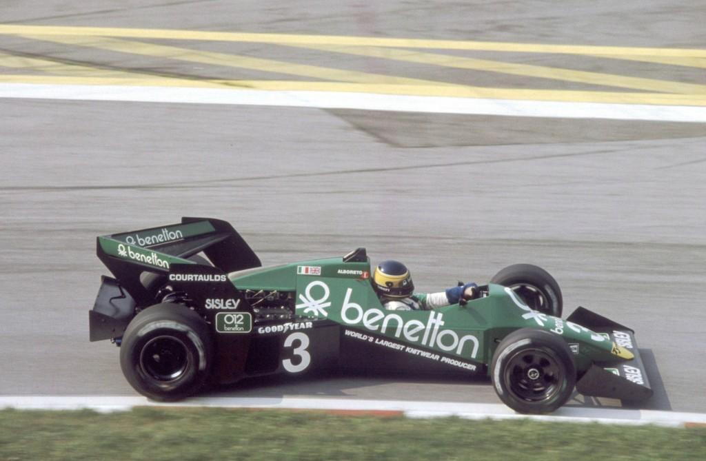 Tyrrell 012 ala a freccia negativa Boomerang 1983