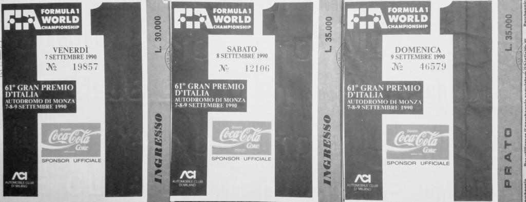 Ticket Monza F1 1990