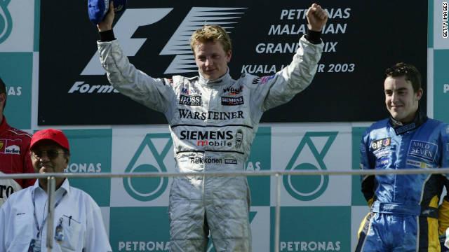Malesia F1 2003 podium