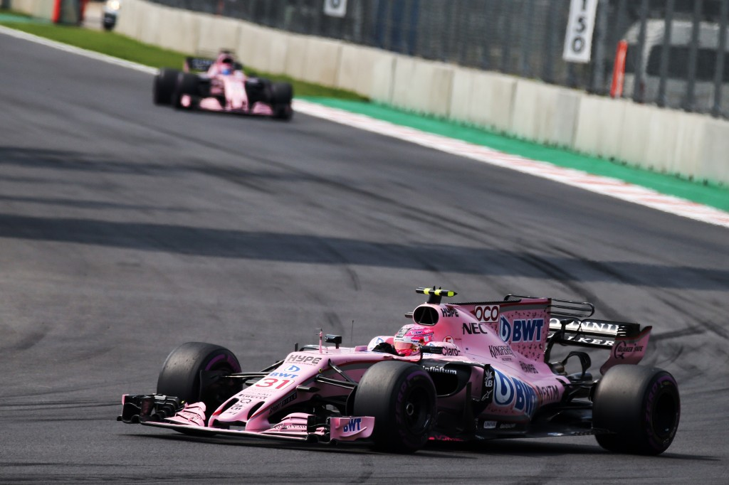 Esteban Ocon (FRA) Sahara Force India F1 VJM10. Mexican Grand Prix, Sunday 29th October 2017. Mexico City, Mexico.