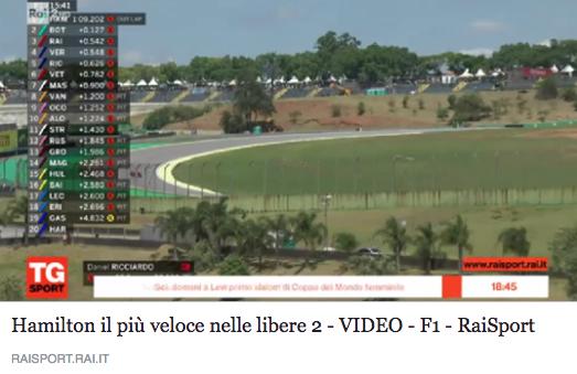 Gp Brasile - Prove Libere 2 - video