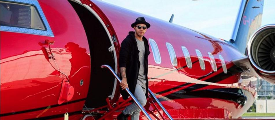 Lewis Hamilton Jet Red airplane