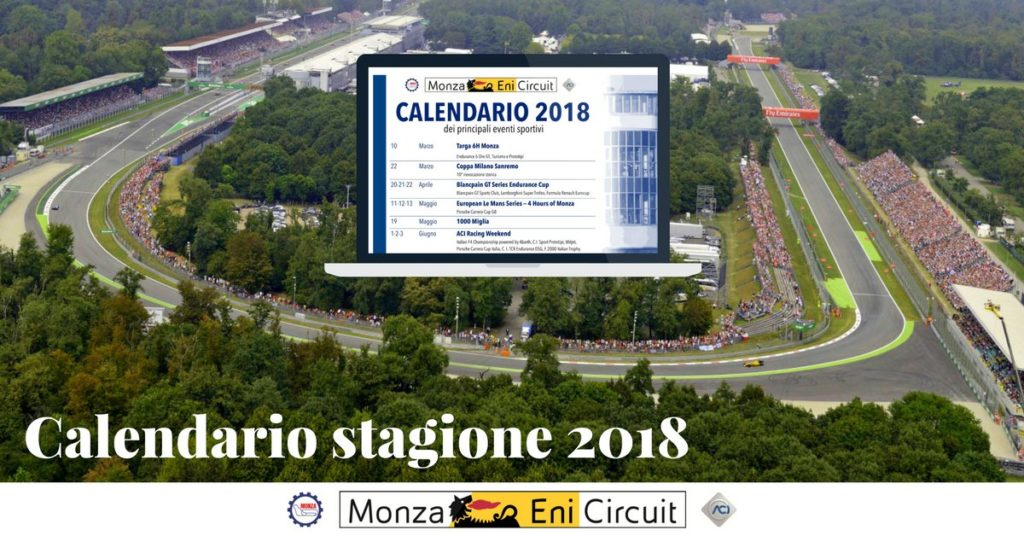 Aci Sport Calendario.Calendario Sportivo 2018 Autodromo Di Monza Formula 1