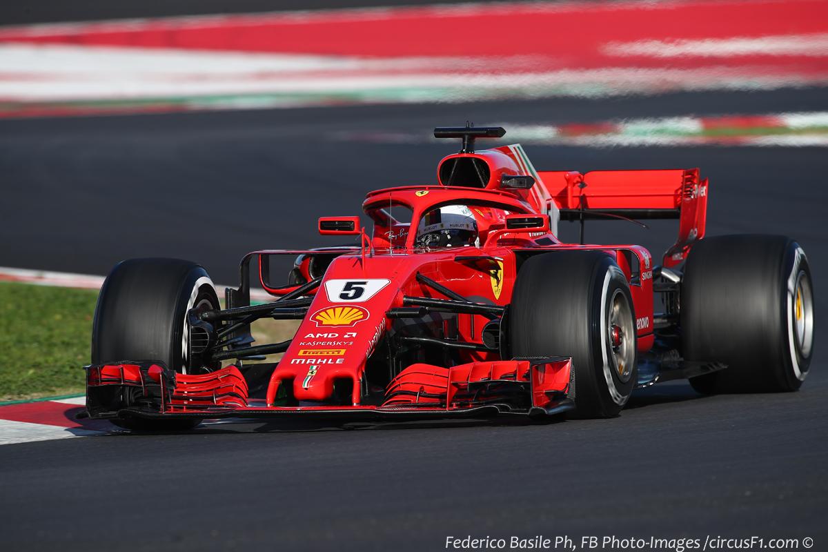 Test F1 Barcellona, Day 5: 171 giri e miglior tempo per Vettel –