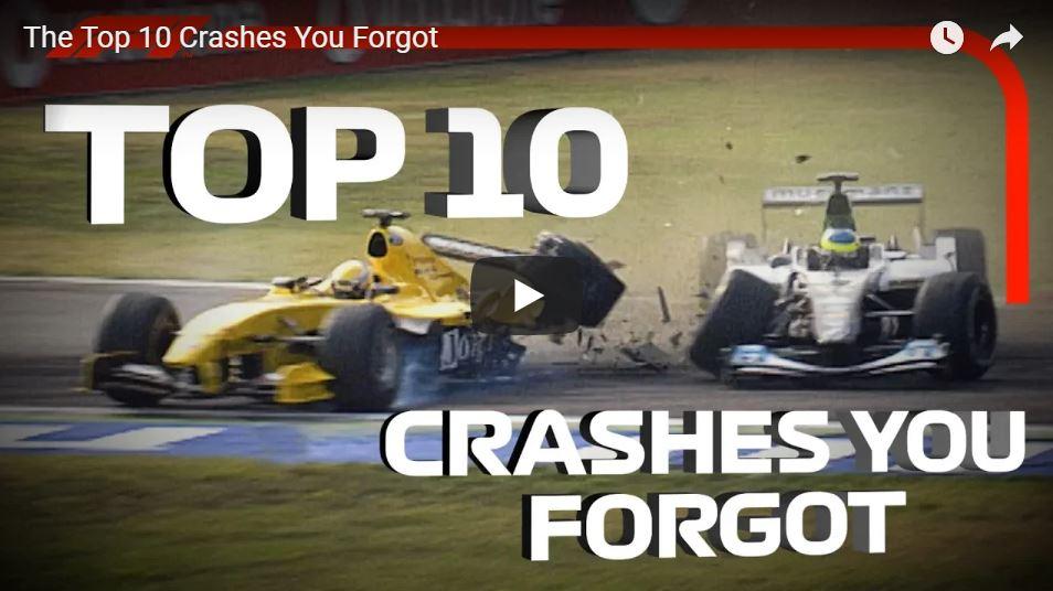 La top 10 degli incidenti in Formula 1 che nessuno ricorda! [ VIDEO ]
